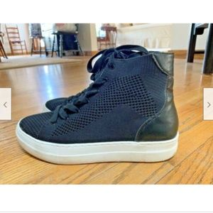 MADDEN GIRL BLACK PERFORATED HIGH TOPS